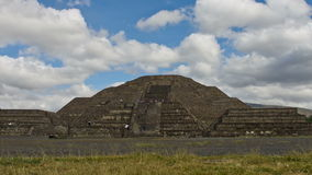 Pyramid of the Moon and the road of death in Teotihuacan, Mexico stock footage