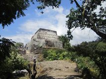 Pyramid of the Moon and of the sun, Teotihuacan royalty free stock photo