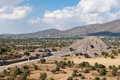 Pyramid of the Moon, Teotihuacan Royalty Free Stock Photos
