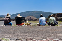 Pyramid of The Moon Teotihuacan Royalty Free Stock Images