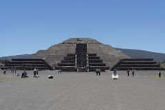 Pyramid of The Moon Teotihuacan Stock Images