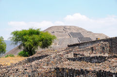 Pyramid of the Moon. Teotihuacan City, Mexico. View of the Pyramid of the Moon. Teotihuacan, Mexico Royalty Free Stock Photography