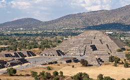 Pyramid of the Moon. Teotihuacan, Mexico Royalty Free Stock Photo