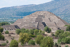 Pyramid of the Moon, Teotihuacan (Mexico) Royalty Free Stock Images