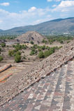 Pyramid of the Moon, Teotihuacan (Mexico) Stock Photos
