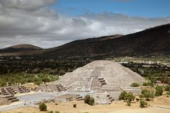 Pyramid of the Moon in Teotihuacan, Mexico Royalty Free Stock Image