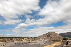 Pyramid of the Moon in Teotihuacan, Mexico. Stock Photos
