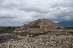 Pyramid of the Moon. Teotihuacan. Mexico Stock Images