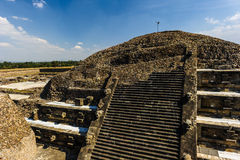 Pyramid of the Moon, Teotihuacan, Mexico Royalty Free Stock Photos