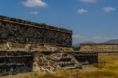 Pyramid of the Moon, Teotihuacan, Mexico Stock Photos