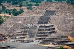 Pyramid of the Moon, Teotihuacan Pyramids Stock Image