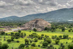 Pyramid of the Moon, Teotihucan Stock Images