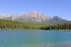 Pyramid Mountain and Patricia Lake Stock Photography