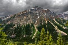 Pyramid Mountain. Reflecting in Patricia Lake Jasper National Park Alberta, Canada stock photo