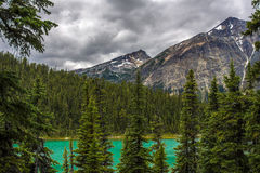 Pyramid Mountain. Reflecting in Patricia Lake Jasper National Park Alberta, Canada royalty free stock photography
