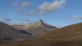 Pyramid mountain at Svalbard, Spitzbergen Stock Photos