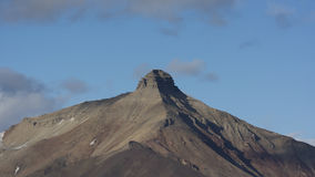 Pyramid mountain at Svalbard, Spitzbergen Royalty Free Stock Photos