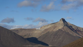 Pyramid mountain at Svalbard, Spitzbergen. Mountains landscape at Svalbard, Spitzbergen Stock Images