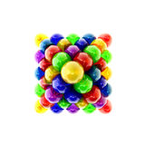 Pyramid multicolored Easter eggs top view Royalty Free Stock Photography