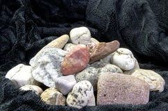 Pyramid from multicolored stones Royalty Free Stock Image