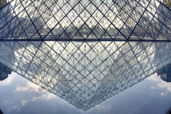 Pyramid of Museum Du Louvre stock photos