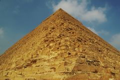Pyramid of Mycerinus or Menkaure eygpt Stock Photography