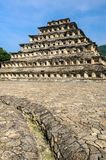 Pyramid of the Niches in El Tajin archaeological site, Mexico. Pyramid of the Niches in El Tajin archaeological site, Veracruz, Mexico royalty free stock photo