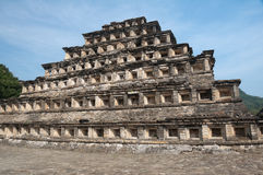 Pyramid of the Niches, El Tajin (Mexico) Royalty Free Stock Photos