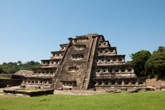 Pyramid of the niches - Tajin. Mexico. El Tajín is a precolumbian archeological site in southern Mexico and is one of the largest and most important cities of Stock Photography