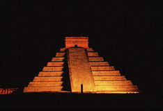 Pyramid at night Royalty Free Stock Photo
