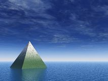 Pyramid at the ocean Stock Photo