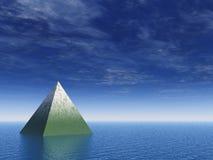 Pyramid at the ocean Stock Photo