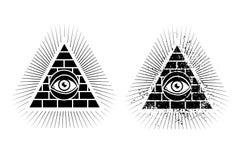 Pyramid och öga Royaltyfria Foton