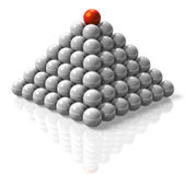 Pyramid Of Success Royalty Free Stock Photography