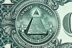 Free Pyramid On One Dollar Bill Royalty Free Stock Photos - 6407528