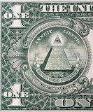 Pyramid on One Dollar Stock Image