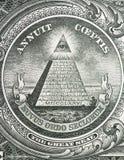 Pyramid on one dollar bill Royalty Free Stock Photo