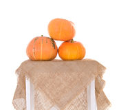 Pyramid of orange ripe pumpkins Royalty Free Stock Photos