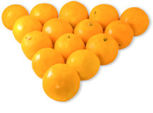 Pyramid of oranges Royalty Free Stock Photo