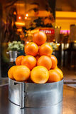 Pyramid of oranges Royalty Free Stock Image