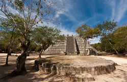 The pyramid Ossuary ¡n Chichen Itza Stock Photo