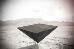 Pyramid on outdoor background vector illustration
