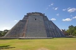 Pyramid på Uxmal Royaltyfri Foto