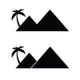 Pyramid with palm cartoon vector Royalty Free Stock Photos