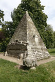 Pyramid in the Parc Monceau, Paris - shot August, 2015 Royalty Free Stock Photography