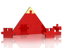 Pyramid from parts of a puzzle Royalty Free Stock Images