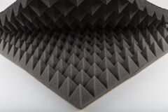 Free Pyramid Pattern Acoustic Sound Insulation Sponge. Foam Rubber Acoustic Background Stock Photography - 168997622