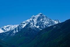 Pyramid Peak. A 14,000' mountain near Aspen, Colorado in spring Royalty Free Stock Photos