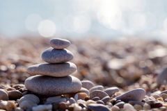 The pyramid of pebbles Stock Photo