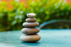 Pyramid of pebbles Royalty Free Stock Images